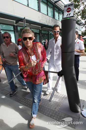 Corina Schumacher, Corinna, Wife of Michael Schumacher, Michael Schumacher, Mercedes GP