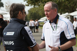 Adam Parr, Williams F1 Team, Mark Gallagher, General Manager of Cosworth's F1 Business Unit