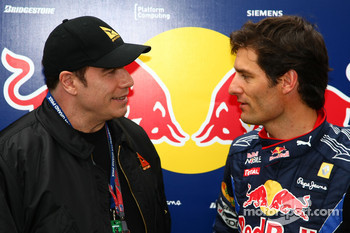 John Travolta, Actor and Mark Webber, Red Bull Racing