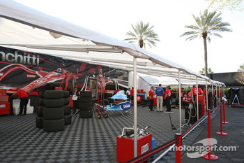 Target Chip Ganassi Racing paddock area