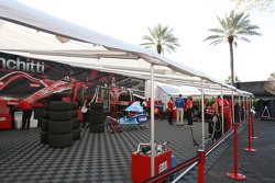 Target Chip Ganassi Racing paddock area