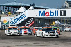 #55 AASCO Motorsports: Jorge Trejos, #65 Kelly Moss Racing: Rob Walton, #92 Kelly Moss Racing: Darrell Carlisle