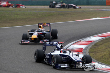 Rubens Barrichello, Williams F1 Team, Sebastian Vettel, Red Bull Racing