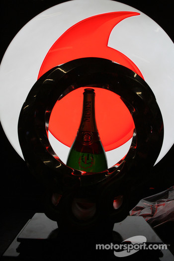Winning trophy of Jenson Button, McLaren Mercedes