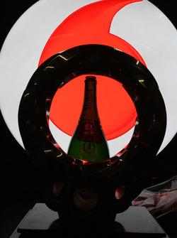 Winning trophy of Jenson Button, McLaren Mercedes