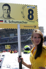 Grid girl of Ralf Schumacher, Team HWA AMG Mercedes C-Klasse