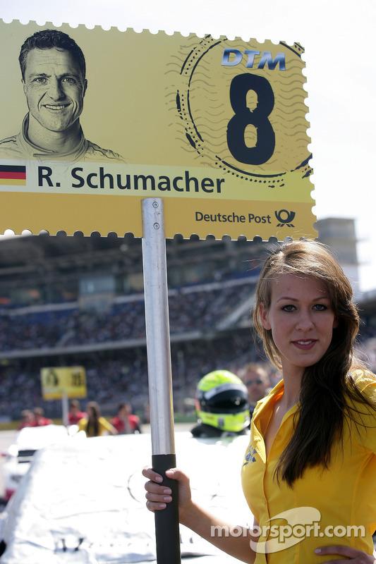 Grid girl of Ralf Schumacher, Team HWA AMG Mercedes C-Klasse