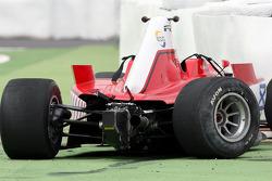 The wrecked car Johan Jokinen