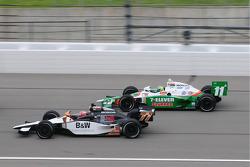 Alex Tagliani, FAZZT Racing leads Tony Kanaan, Andretti Autosport
