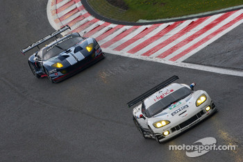 #72 Luc Alphand Aventures Corvette C6.R: Julien Jousse, Stephan Gregoire, David Hart, #60 Matech Competition Ford GT: Thomas Mutsch, Jonathan Hirschi, Mathias Beche