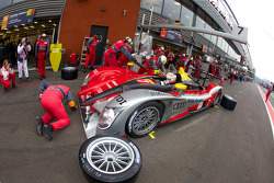 Pit stop for #7 Audi Sport Team Joest Audi R15 TDI: Rinaldo Capello, Tom Kristensen, Allan McNish