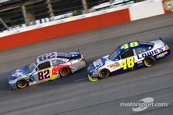 Scott Speed, Red Bull Racing Team Toyota and Jimmie Johnson, Hendrick Motorsports Chevrolet