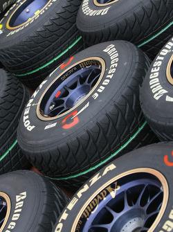Bridgestone tyres, wet
