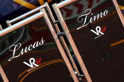 Timo Glock, Virgin Racing and Lucas di Grassi, Virgin Racing
