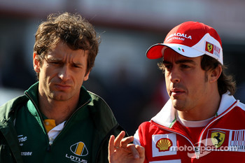 Jarno Trulli, Lotus F1 Team, Fernando Alonso, Scuderia Ferrari