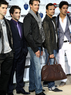 Jaime Alguersuari, Scuderia Toro Rosso, Timo Glock, Virgin Racing, Adrian Sutil, Force India F1 Team, Vitantonio Liuzzi, Force India F1 Team, Lucas di Grassi, Virgin Racing, Amber Lounge Fashion Show