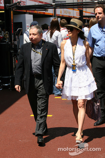 Jean Todt, FIA president and Michelle Yeoh, ex. James Bond girl, actor, Girlfriend of Jean Todt