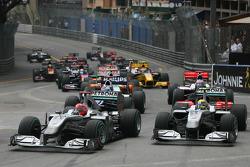 Start of the race, Michael Schumacher, Mercedes GP