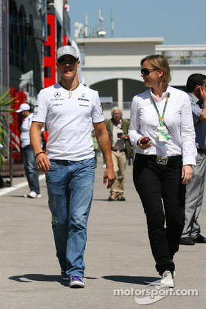 Michael Schumacher and manager Sabine Kehm