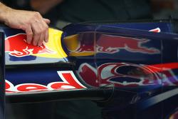 the F-Duct system on the car of Sebastian Vettel, Red Bull Racing