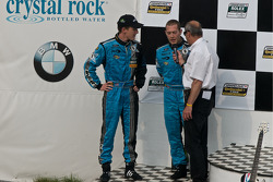 DP podium: third place winners #6 Michael Shank Racing Ford Riley: Brian Frisselle, Michael Valiante