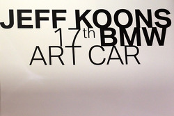 BMW Art Car presentation, Pompidou Center, Paris: signage