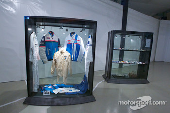 Ceremony to commemorate Jean Rondeau and Jean-Pierre Jaussaud 30th anniversary in the 1980 24 Hours of Le Mans: collectible items on display