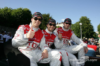Timo Bernhard, Mike Rockenfeller and Romain Dumas