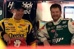 Clint Bowyer, Richard Childress Racing Chevrolet and Dale Earnhardt Jr., Hendrick Motorsports Chevrolet