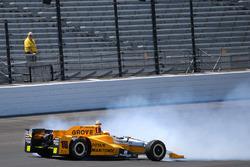 Huge crash for Spencer Pigot, Rahal Letterman Lanigan Racing Honda