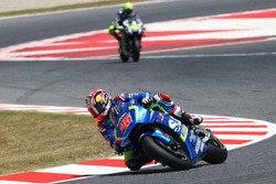 Maverick Viñales, Team Suzuki Ecstar MotoGP; Valentino Rossi, Yamaha Factory Racing