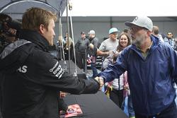 Nico Rosberg, Mercedes AMG F1 with a fan