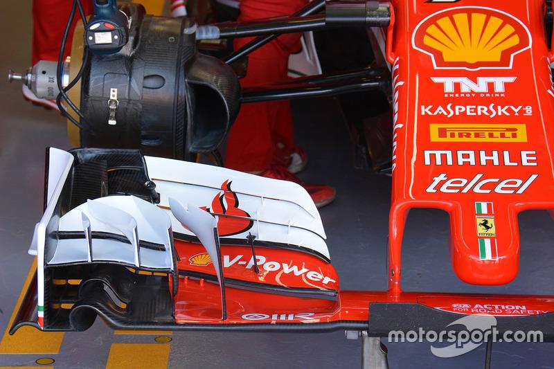 Ferrari SF16-H, l'ala anteriore