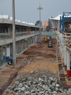 Construction work at Interlagos