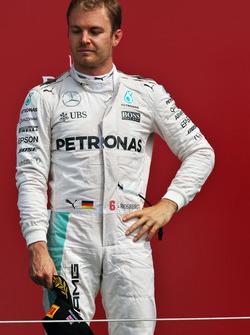 Nico Rosberg, Mercedes AMG F1 on the podium