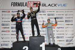 Podium: Race winner Fredric Aasbo, second place Chris Forsberg, third place Aurimas Bakchis