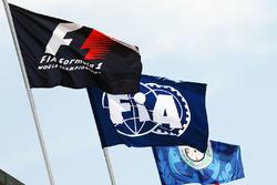 F1- und FIA-Flaggen