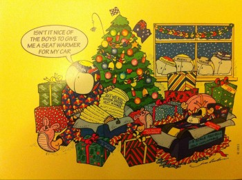 Mark Webber Christmas Card