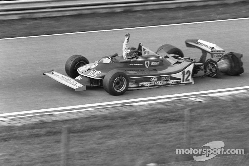 Gilles Villeneuve on 3 wheels!