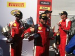 Carlos has his hands full in Race 2 Victory Lane