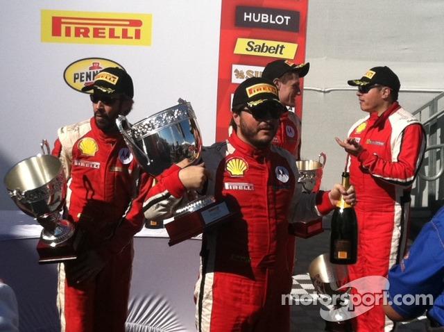 Carlos has his hands full in Race 2 Victory Lane