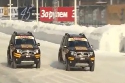 Ice race in Moscow
