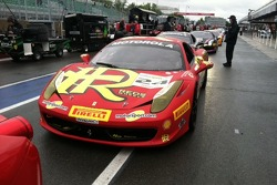 Carlos Kauffmann's 458 in the practice line queue