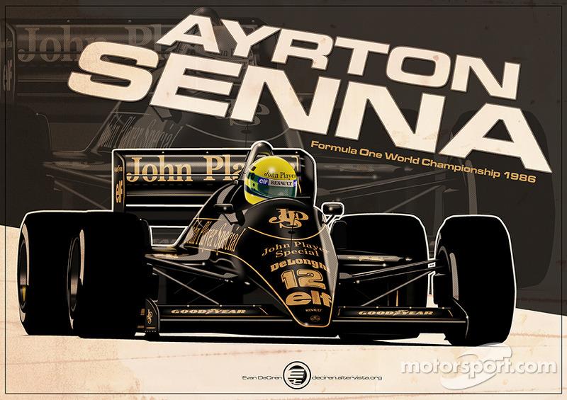 Ayrton Senna - F1 1986