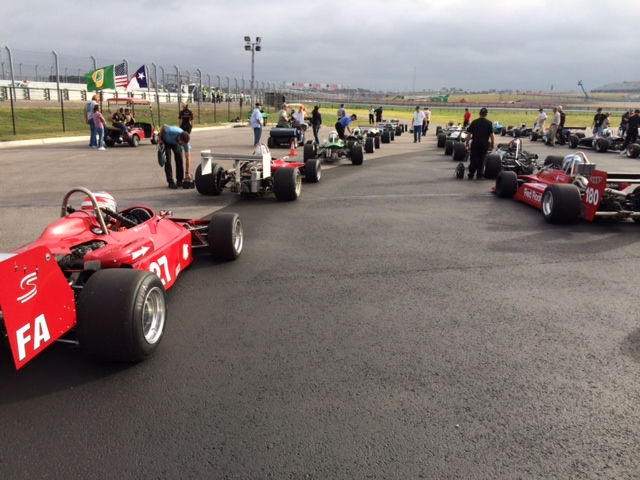 Another angle of the Historic Formula Racing Grid