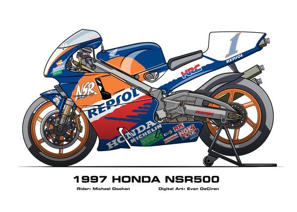 Honda NSR500 - 1997 Michael Doohan