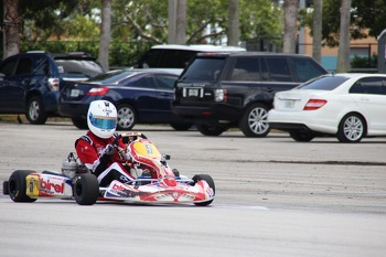 Stirling Fairman Competing in the Florida Pro Kart Series
