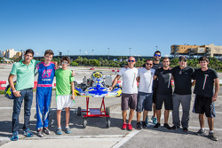 Stirling Fairman and his team, JC Karting