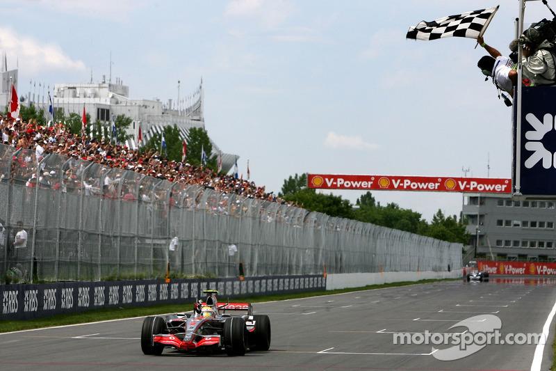 فوزه الأول في الفورمولا واحد موسم 2007 في جائزة كندا الكبرى
