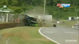 Scott Sharps huge crash 2009 ALMS